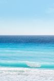 plażowa karaibska niebo fale oceanu Fotografia Stock