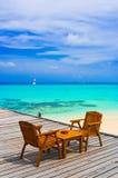 plażowa kawiarnia Obrazy Royalty Free