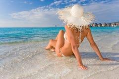 plażowa kobieta Obrazy Royalty Free