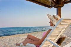plażowa kobieta Zdjęcia Stock