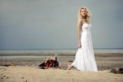 plażowa kobieta Obraz Royalty Free