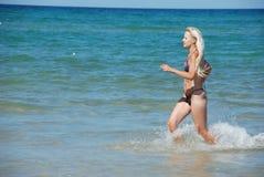 plażowa kobieta Obrazy Stock