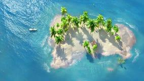 pla?owa kokosowa palma tropikalne morza zdjęcie stock