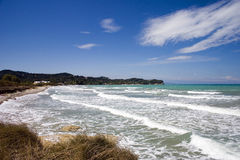 plażowa Korfu dzikiej wyspy Obrazy Stock