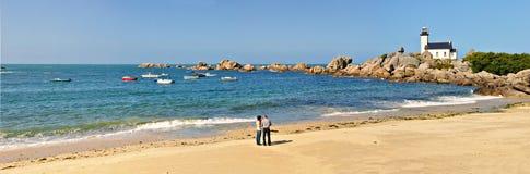 plażowa panorama Obrazy Royalty Free