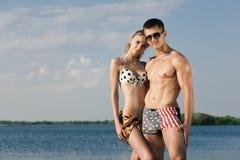 plażowa para Fotografia Stock
