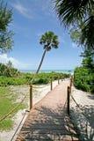 plażowa ' the pathway ' obraz stock