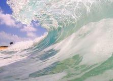 plażowa piaskowata fala Obrazy Royalty Free