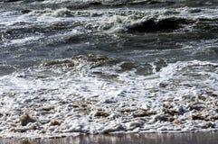 plażowa piaskowata fale Zdjęcia Stock
