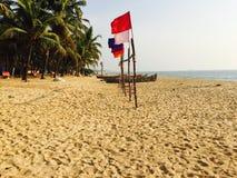 Plażowa ralley statku flagowego natura czy Zdjęcia Royalty Free