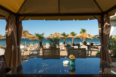 Plażowa restauracja na Czarnym morzu Obraz Royalty Free