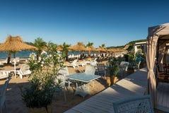 Plażowa restauracja na Czarnym morzu Zdjęcie Royalty Free