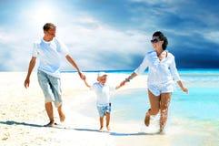 plażowa rodzina Zdjęcie Stock