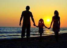 plażowa rodzina Obraz Stock