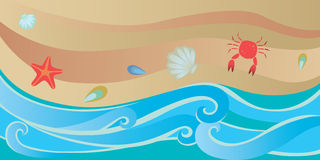 Plażowa Scena ilustracji