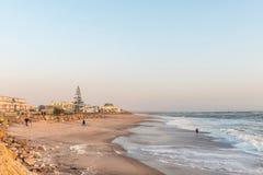 Plażowa scena przy zmierzchem w Swakopmund Fotografia Royalty Free