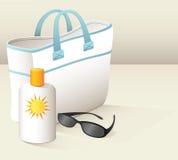 Plażowa torba Obrazy Stock