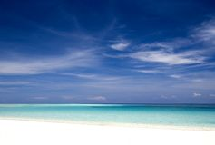 plażowa tropikalna wyspa Zdjęcie Stock