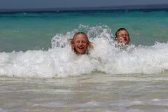 plażowa zabawa Zdjęcia Royalty Free