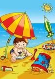 plażowa zabawa ilustracja wektor