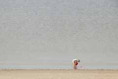 Plażowa zabawa na Brouwersdam siódmy struktura delta Pracuje Zdjęcia Royalty Free