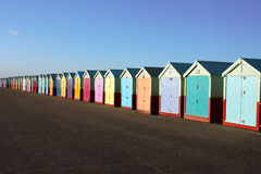 plażowe budy Zdjęcia Stock
