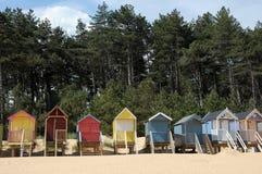 Plażowe budy, Holkham Obrazy Royalty Free