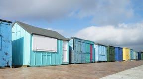 Plażowe budy przy Duver Fotografia Royalty Free