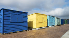 Plażowe budy przy Duver Obraz Royalty Free
