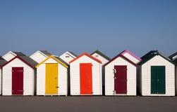 Plażowe budy przy Paignton, Devon, UK. Obraz Stock