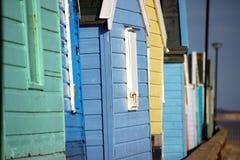Plażowe budy przy southwold Obraz Stock