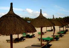 plażowe chaty Mauritius Zdjęcie Stock