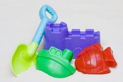 plażowe dzieci s piaska zabawki Zdjęcia Royalty Free