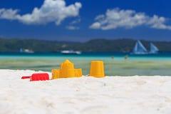 plażowe dzieciaków piaska zabawki Obraz Stock