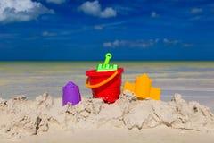 plażowe dzieciaków piaska zabawki Zdjęcia Stock