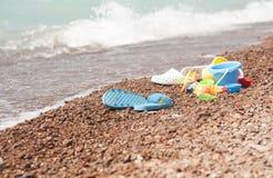 plażowe dzieciaków piaska zabawki Zdjęcie Royalty Free