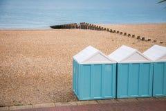 Plażowe kabiny Zdjęcie Royalty Free