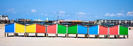Plażowe szafki Obrazy Stock