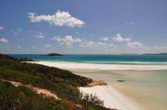 plażowe wyspy whitehaven whitsunday Zdjęcia Royalty Free