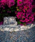 Plażowego domu znak Fotografia Stock