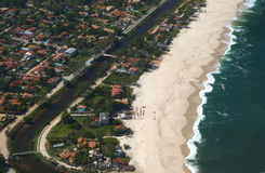 plażowego itaipuacu halnego mourao odgórny widok Fotografia Stock