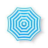 Plażowego parasola odgórnego widoku ikony, ilustracja Zdjęcie Stock