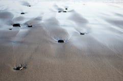 Plażowego piaska oceanu morza denne fala Obrazy Royalty Free