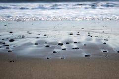 Plażowego piaska oceanu morza denne fala Obrazy Stock