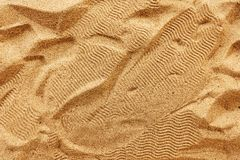 Plażowej piasek tekstury odgórny widok fotografia royalty free
