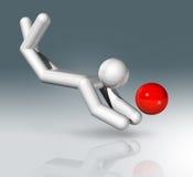 Plażowej siatkówki 3D symbol, Olimpijscy sporty Obraz Stock