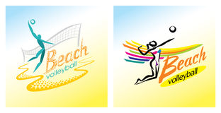 Plażowej siatkówki wektoru ikona Zdjęcie Stock