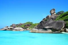 plażowej wyspy similan tropikalny Obraz Royalty Free