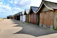 Plażowi buda cienie Zdjęcia Royalty Free