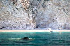 plażowi chomi Greece paradisos Zdjęcia Royalty Free